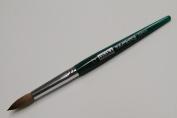 Osaka Finest 100% Pure Kolinsky Brush, Size # 12, Made in Japan, Green Marble Handle