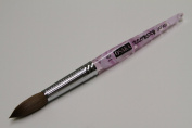 Osaka Finest 100% Pure Kolinsky Brush, Size # 18, Made in Japan, Acrylic Purple Handle