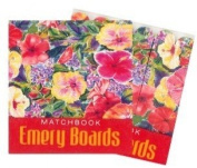 Hawaiian Matchbook Emery Boards 3 Pack Hibiscus Impressions
