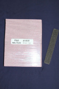 Professional Nail Files Grit 80/80, Jumbo Size Black/Pink Rectangle