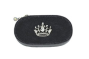 Silver Crown Black Manicure Case Set of 6 Tools