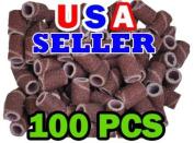 100 Pc Sanding Bands Nail Manicure Pedicure #120 GRIT FILE SAND PIECE SET