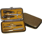 6 Pcs Stainless Steel Nail Care Personal Manicure & Pedicure Set, Travel & Grooming Kit #696-2