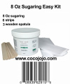 8 Oz Sugaring Easy Kit Egyptian Sugar Wax Hair Removal 100% Natural Paste + 6 Strips and 3 Wooden Spatula