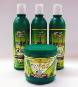 Crecepelo Combo II-Shampoo 350ml+ Rinse 350ml+ Leave-In 350ml+ Treatment 470ml