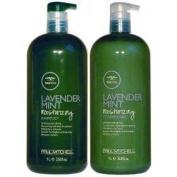 Paul Mitchell Lavender Mint Moisturising Shampoo & Conditioner 1L (33.8oz)each W/ Pumps