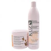 "Kuz Multi Protein Shampoo 500ml + Mask 500ml "" Combo Set """