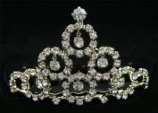 New Bridal Flower Girl Prom Party Crystal Tiara Comb 76