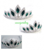 NEW HALLOWEEN COSTUME Rhinestone Crystal Tiara Comb H77