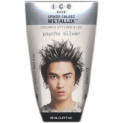 Ice Hair - Spiker Colorz Metallix Coloured Styling Glue Psycho Silver 50ml