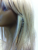 """4""""-18cm Feathers for Hair Extension with 5 Natural Remix Colour Feathers for Hair Extension"""