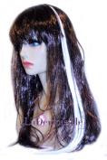 60cm Clip-in Straight Hair Extension (White) Plus Bonus Ponytail Holder