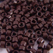 250 PCS 4 mm Dark Brown Colour Screw Thread Micro Ring Beads Locks for I Tip Stick Feather Human Hair Extensions