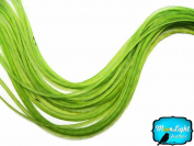 Moonlight Feather, Hair Extension Feathers - Solid Lime - 11.5+ Inches Long, 6 Pieces
