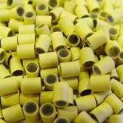 200 PCS Blonde Colour 4mm Copper Silicone Micro Tube For I Stick Tip Human Hair Extension
