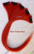 Hair Collection-30cm Red 100% Human Hair Clip in on Extensions - 4.1cm widex5pcs