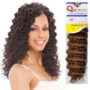 . Milky Way Human Hair Master Mix Weave Que Deep Wave 25cm  - 1B