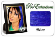 46cm Inch Blue Highlight Streaks Pro Extensions Premier Human Hair Extensions