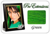 46cm Inch Green Highlight Streaks Pro Extensions Premier Human Hair Extensions
