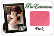 46cm Inch Pink Highlight Streaks Pro Extensions Premier Human Hair Extensions