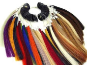 Pre Bonded Sythethic Hair Extensions Colour Rings Chart Swatches