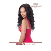 French Twist 100% Human Hair Weave Extensions By Sensual, 25cm #1b Off Black