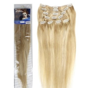 46cm Clip in Human Hair Extensions, 10pcs, 100g, Colour #F27/613