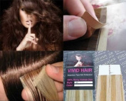 10 Pcs X 46cm inches Remy Seamless Tape Skin weft Human Hair Extensions Colour 8C/11C Blonde Mix