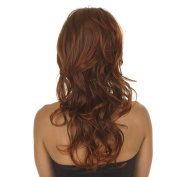 Ginger Copper Half Wig | Raised Crown | Full Volume Half Wigs | Instant Volume, Curls and Length