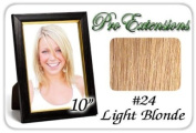 25cm Inch #24 Light Blonde Pro Extensions Human Hair Extensions