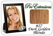 25cm Inch #27 Dark Golden Blonde Pro Extensions Human Hair Extensions
