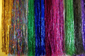 Hair Tinsel - SALON PACK - 7 packs of 100 Strands Mixed Colours 100% Silk! FREE HOOK TOOL and 100 MIXED colour MICRO LINKS!