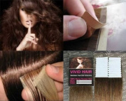 20 Pcs X 46cm inches Remy Seamless Tape Skin weft Human Hair Extensions Colour # 6 Light Brown