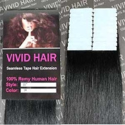 20 Pcs X 46cm inches Remy Seamless Tape Skin weft Human Hair Extensions Colour #1 Jet Black