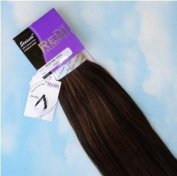 INDIAN REMY REMI HUMAN HAIR EXTENSION WEAVE BY SENSUAL 46cm colour 1b. black with Auburn