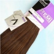 INDIAN REMY REMI HUMAN HAIR EXTENSION WEAVE BY SENSUAL 46cm colour 4/30 Brown with Auburn