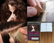 20 Pcs X 60cm inches Remy Seamless Tape Skin weft Human Hair Extensions Colour # 7 Dark Blonde