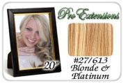 50cm Inch Body Wave #27/613 Blonde W/ Platinum Highlights Pro Extensions Premier Human Hair Extensions