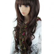 MelodySusie Women's Long Full Curly Wavy Fashion Nature Beauty Romantic Hair Wig