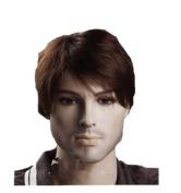 Men's Short Dark Brown Wigs For Men Lacefront Wigs Hair Wigs