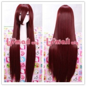 100cm Japanese Anime Aoi Nagisa Long Wine Red Straight Cosplay