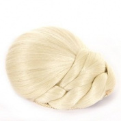 Platinum Blonde Braided Clip In Braided Hair Bun | Clip On Glamorous Hairpiece | Available in 4 Colours