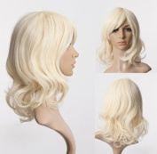 Cosplayland C071 - 45cm light blonde sleek and chic mid-length wig