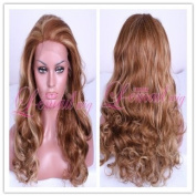 In Stock 55cm long 30/25# women wavy lace front Wig LC15