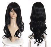 Cosplayland C086 - 70CM Wave Curly Inuyasha Naraku Daily like really Human Hair - Black
