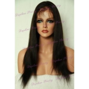 36cm yaki straight Indian Remy Full Lace Wig