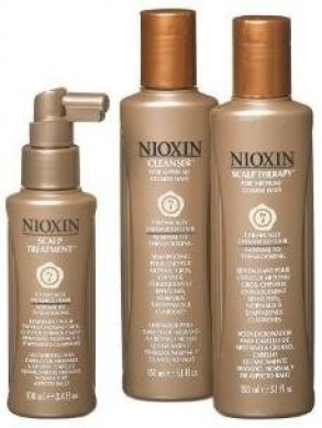 Nioxin Starter Kit System 7 Chemically Enhanced Medium Coarse Hair Early Stage Hair Loss 3 Kit