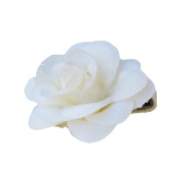 Cream Rose Ribbon Clip, Beautiful Gifts for Girls