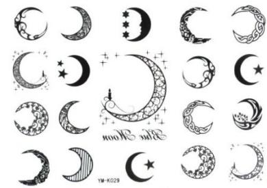 Halloween Christmas Moon 19style Totem Star Temporary Tattoos