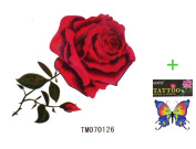 King Horse Hot selling waterproof temporary tattoos sexy red roses
